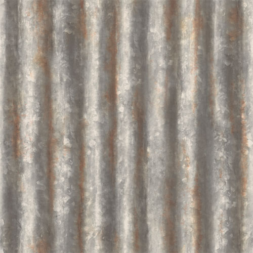 2701 22333 reclaimed corrugated metal wallpaper charcoal - Spits Behang