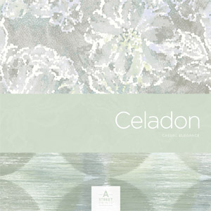 A Street Prints Celadon Wallpaper Book by Brewster Wallcovering