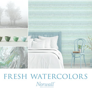Norwall Fresh Watercolors Wallpaper Book by Patton Wallcovering